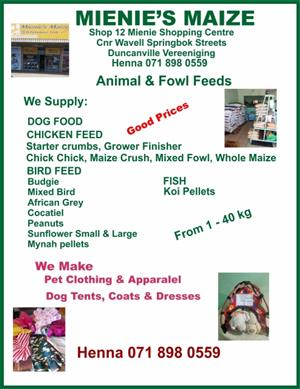 Pet Food, Seed & Clothing