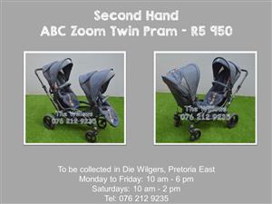 Second Hand ABC Zoom Twin Pram