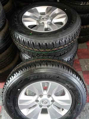 """17""""Toyota hilux mag wheels and 265/65/17 Bridgestone dueller AT tyres"""