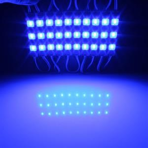 LED Light Modules: Waterproof Square Injection Moulded in Blue Colour. 12Volts.