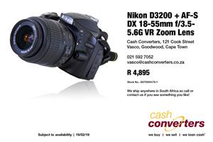 Nikon D3200 + AF-S DX 18-55mm f/3.5-5.6G VR Zoom Lens