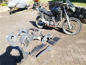 HONDA 650 BIKE, NOT ON ROAD, ACCIDENT DAMAGE