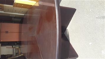 14 Seater Dark Wood Boardroom Table