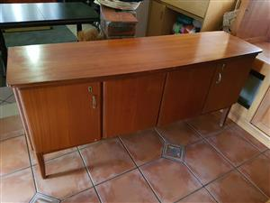 Solid sideboard with drawers on the inside