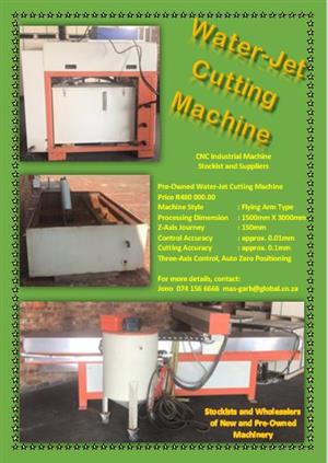 CNC Pre-Owned WaterJet Cutting Machine