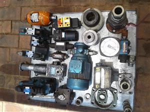 Various hydraulic components