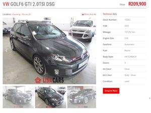 2011 VW Golf hatch GOLF VII GTi 2.0 TSI DSG