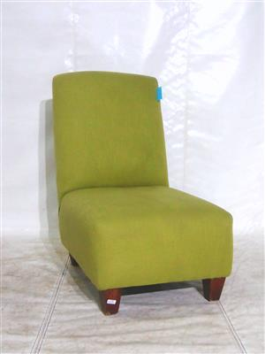 Green single seat fabric couch