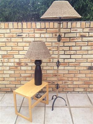LAMPS LOUNGE RATTAN WROUGHT IRON  =  R3700  — Call 0834604858