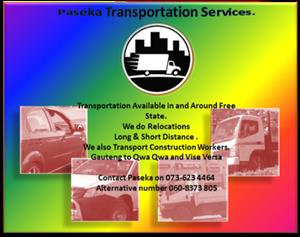 Transportation Available in and Around Free State.