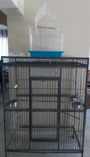 Big bird cage for sale with 2 small cages