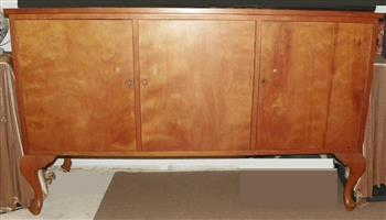 yellow wood sideboard chest antique 1930's