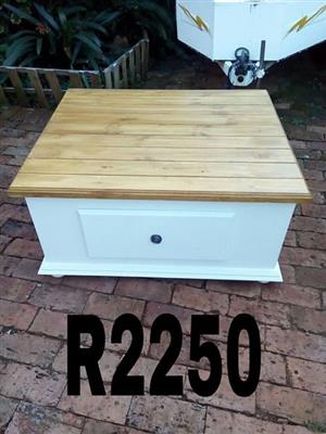 White wooden top mini drawer stand