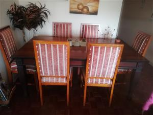 Stunning dining room table and chairs