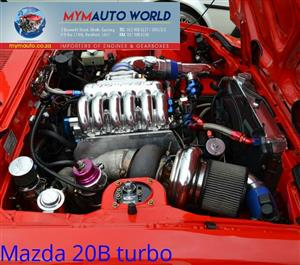 Imported used  MAZDA 2.0L TURBO, 20B TURBO engines. Complete second hand engine