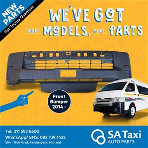 NEW Front Bumper 2014- suitable for Toyota Quantum - SA Taxi Auto Parts quality spares