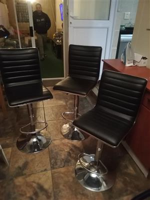 3 Bar chairs for sale