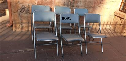 6 x Vintage School Hall Chairs
