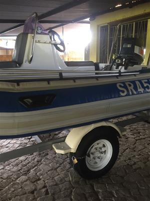 Rubber duck Yamaha 80HP double wave breaker with allot extras all paper work in order
