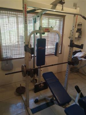 Trojan power cage with weights, used for sale  Durban - Morningside