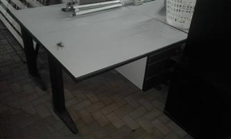 Large black and white desk for sale