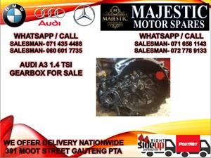 Audi a3 1.4 tsi gearbox for sale