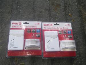 Wireless motion sensors x2 brand new