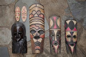 South African Wooden Masks (Hand Carved Wood Art)