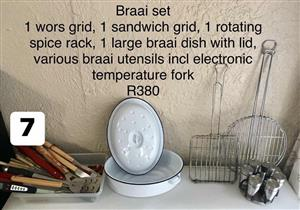 Braai set for sale