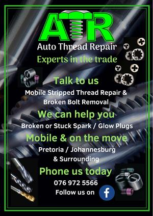 Broken Bolt Removal & Stripped Thread Repairs