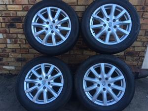 """Porsche Mags with Tyres 5 hole 18""""."""