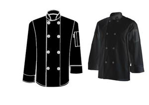 CHEFS UNIFORM JACKET BASIC LONG (BLACK)