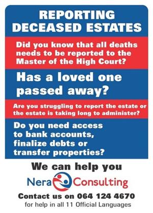 Deceased Estates under R250 000