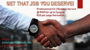 Become the standout applicant! CV _ READ