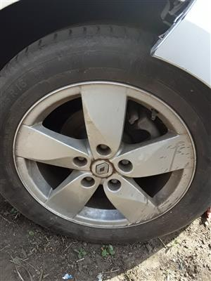 "Renault 16"" Rims with Tyres"