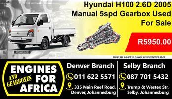 Hyundai H100 2.6D 2005 Manual 5spd Used Gearbox