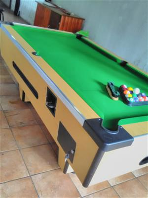 Coin pool table 2017