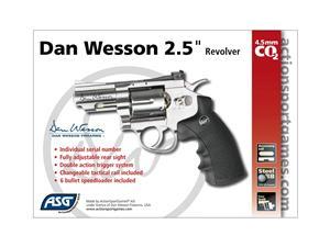"""DAN WESSON 2.5""""REVOLVER - 4.5 mm CO2 Airgun"""