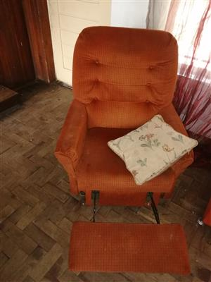 Single chair leg up for sale