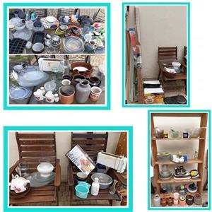 Large amount of crockery and vases