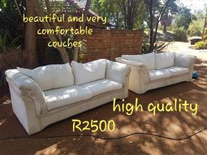 Cream 2 seater couches for sale