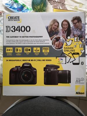 Nikon D3400, 18-55mm Lens and 70-300mm Lens
