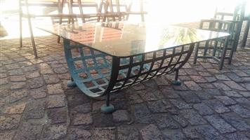 Glass top dinig table