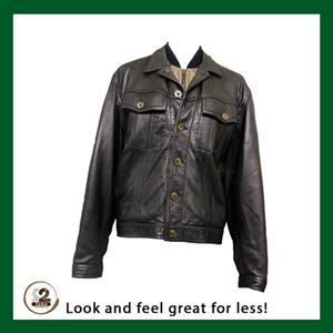 We have different winter jackets available like this men's genuine leather jacket.