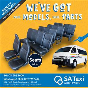 Full set of Seats for Toyota Quantum - SA Taxi Auto Parts quality used spares