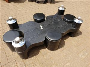 Modern dark wooden coffee table