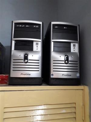 3 x Core 2 duo tower with 3GB Ram and 500GB Hard Drive and Windows 10 plus more