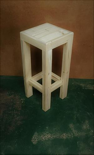 Bar stool Farmhouse series 350 square - Raw