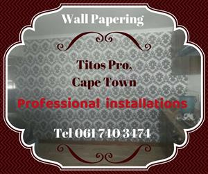 Wall papering installations by Titos Pro Painters & Renovators in Cape Town