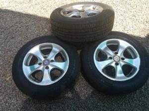 3 Rims with Tyres, 4 holes 14inch
